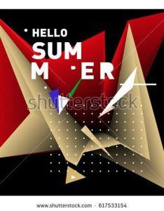 Vector graphic background dynamic effect gradient abstract illustration design template summer season also rh za pinterest