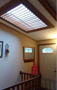 Shutter skylight matched the wood trim complimenting this ...