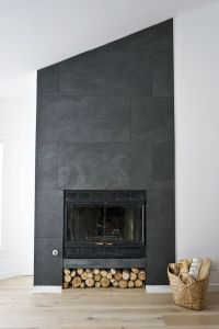 The Ravine House's Finished Fireplace | Ceiling, Porcelain ...
