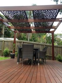 decorative screening on pergola roof | PRIVACY SCREENS ...