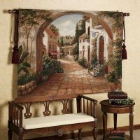 Quaint Town Tapestry | Tapestry, Tuscan decor and Wall ...