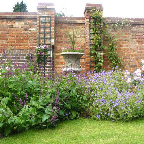 Houzz Brick Walled Garden