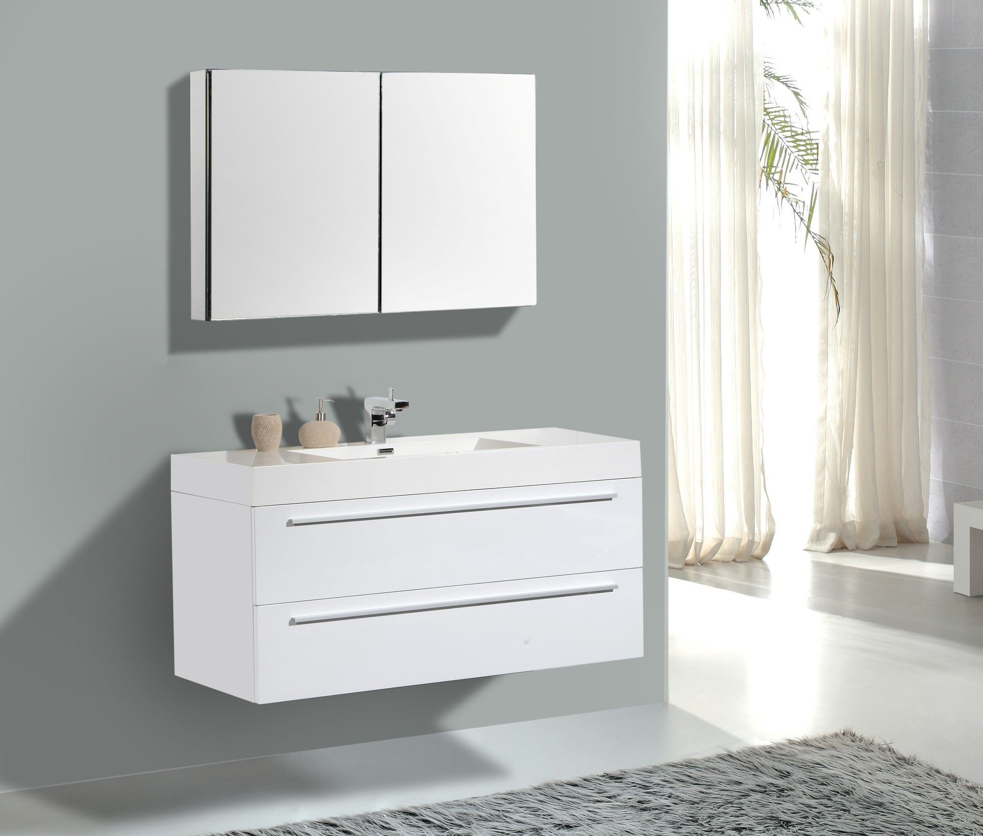 White Bathroom Vanity Ideas Aqua Decor Maya 47 Quot Modern Bathroom Vanity Set W Medicine