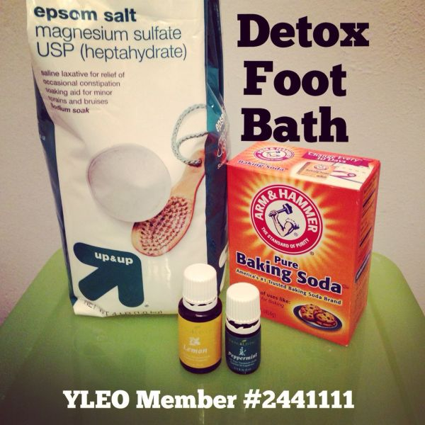 Detox Foot Bath With Young Living Oils. Lemon