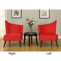 Accent Lounge Chairs Ashley Sale Flared Back Red Microfiber Chair By Armen Living