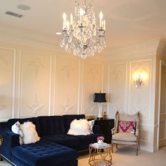 Blue Velvet Sofa Living Room Ideas Deals Under 200 Impressive Tufted For And Furniture