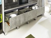 Bauformat Brest 186 Concrete looking kitchen cabinets ...
