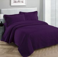 3pc Bedspread Coverlet Embossed Bed Cover Solid Drak ...
