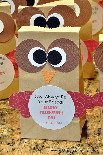 Owl Valentine Treat Bags For Kids VALENTINES DAY THEME