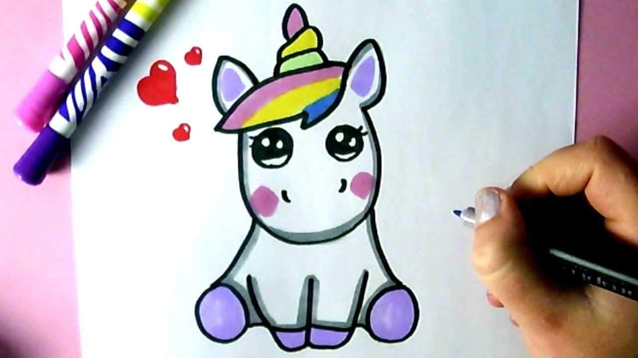 COMMENT DESSINER UNE LICORNE KAWAII  DESSIN  YouTube  kawaii  Pinterest  Comment dessiner