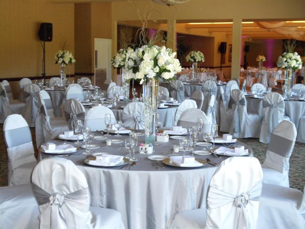 white chairs for wedding all weather outdoor dining silver table cloth chair covers google