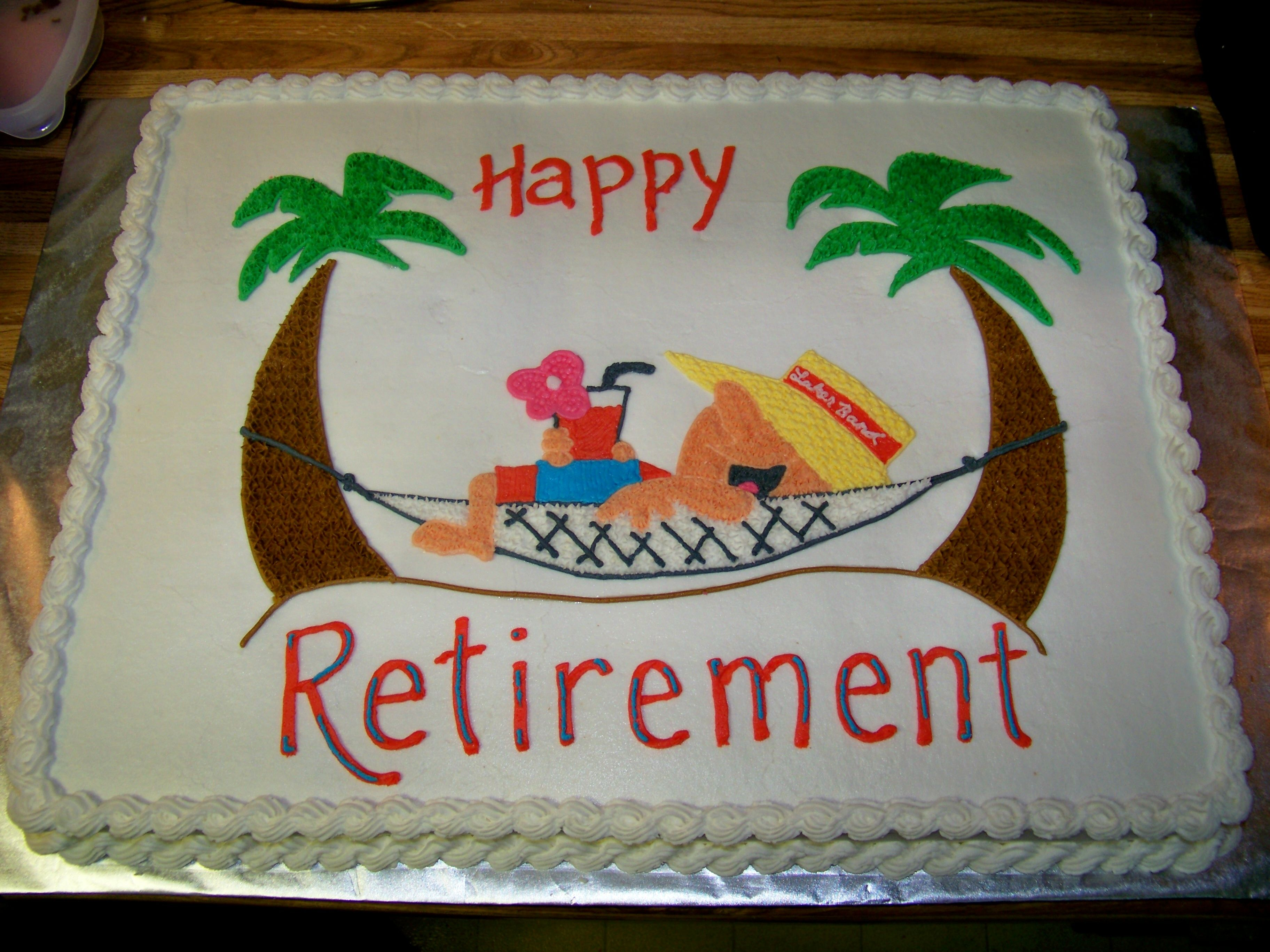 Man In Hammock Retirement Cake