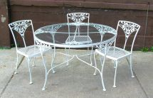 Dining Table Fascinating White Wrought Iron Outdoor