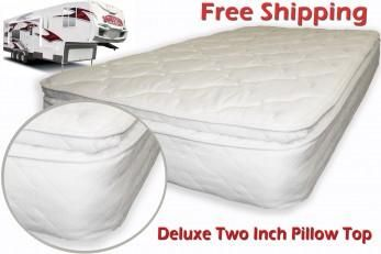 Short Queen Rv Mattress Soft Dreamer Deluxe 2 Inch Pillow Top 60 X 75 Offers Custom Innerspring Because We No Sleeping On The Ground Can Be