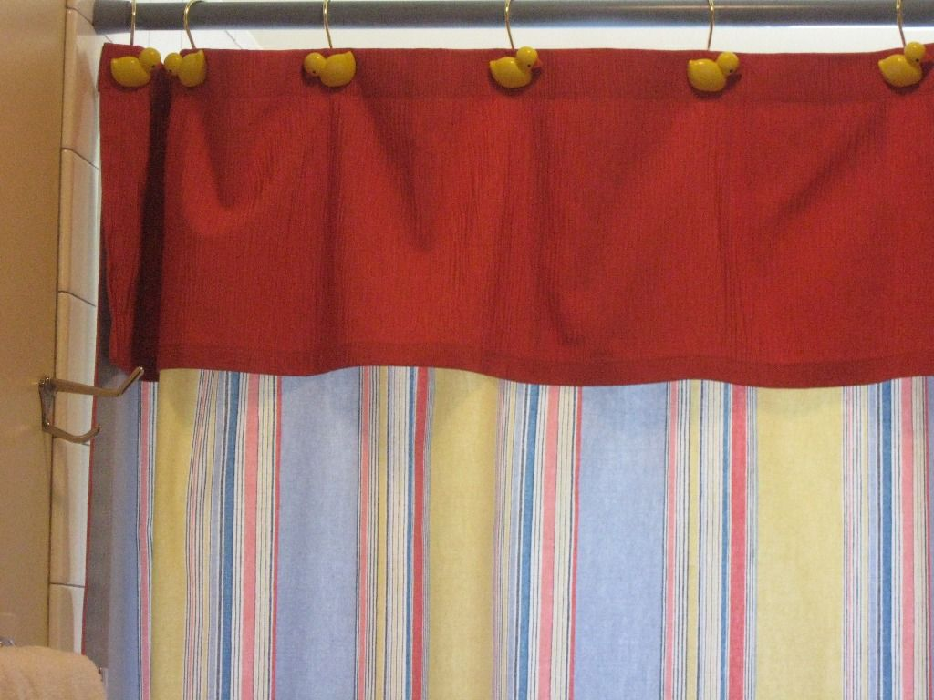 Shower Curtains Valance Attached