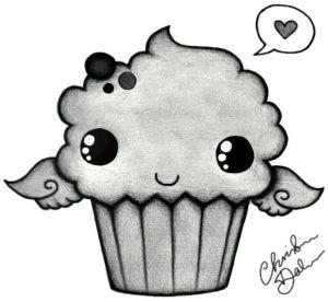 drawings easy drawing google things sketches cupcake