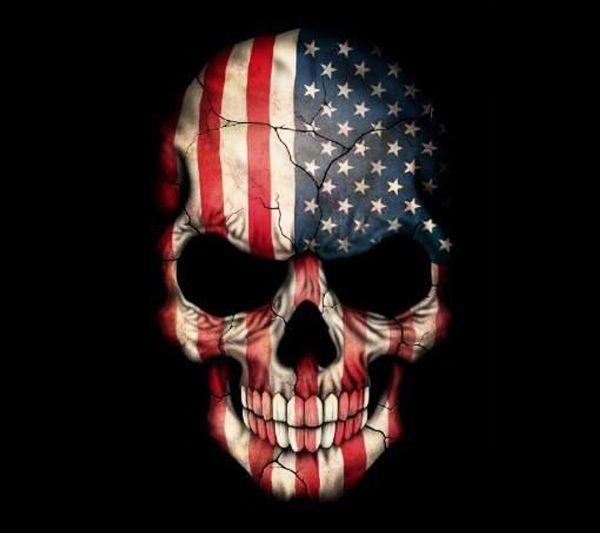 Awesome American Flag Skulls