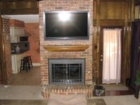 brick fireplaces with tv above | TV install, Installation ...