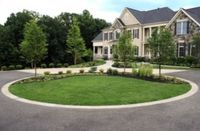 circular driveway landscaping ideas | Front Landscaping ...