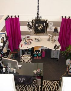 Seriously awesome cubicle all decorated differently could be office design ideas also cassie   cube paint stripes and rh pinterest