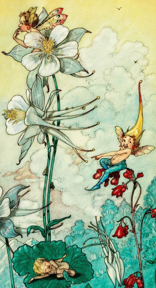 "Harold Gaze 1934 ""fairies Play "" Detail Vintage Fairy"