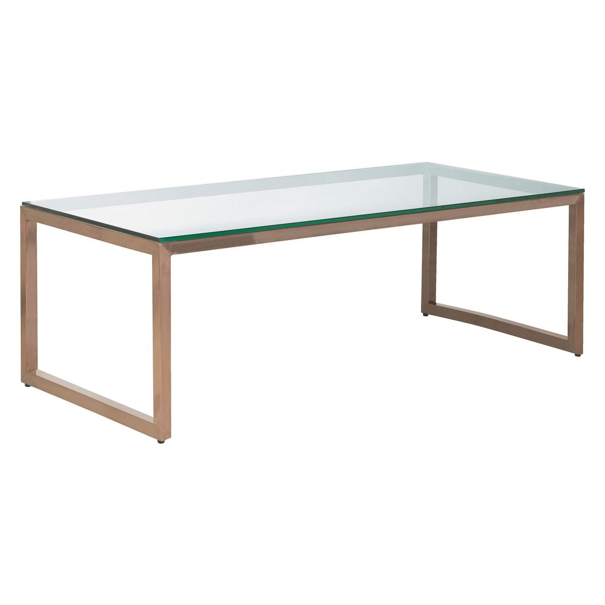 TILDA Glass coffee table with copper base