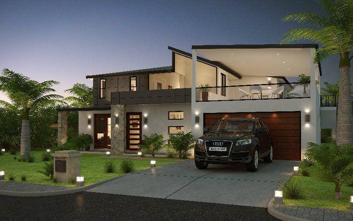 3D Front Elevation Com Modern Form House Front Elevation House