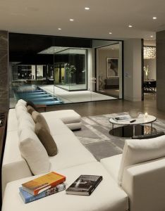 Modern interiors love the inner glass courtyard interest of angles  also living room pinterest rh