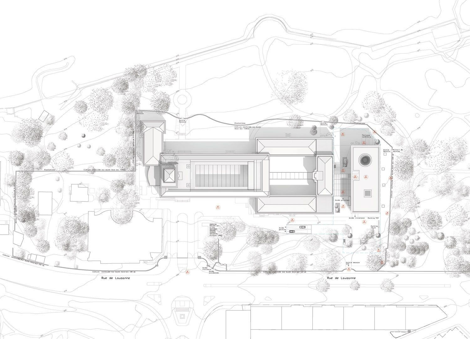 Architecture Site Plan Drawing