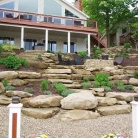 tiered yard landscaping | Landscape On A Hill Design Ideas ...
