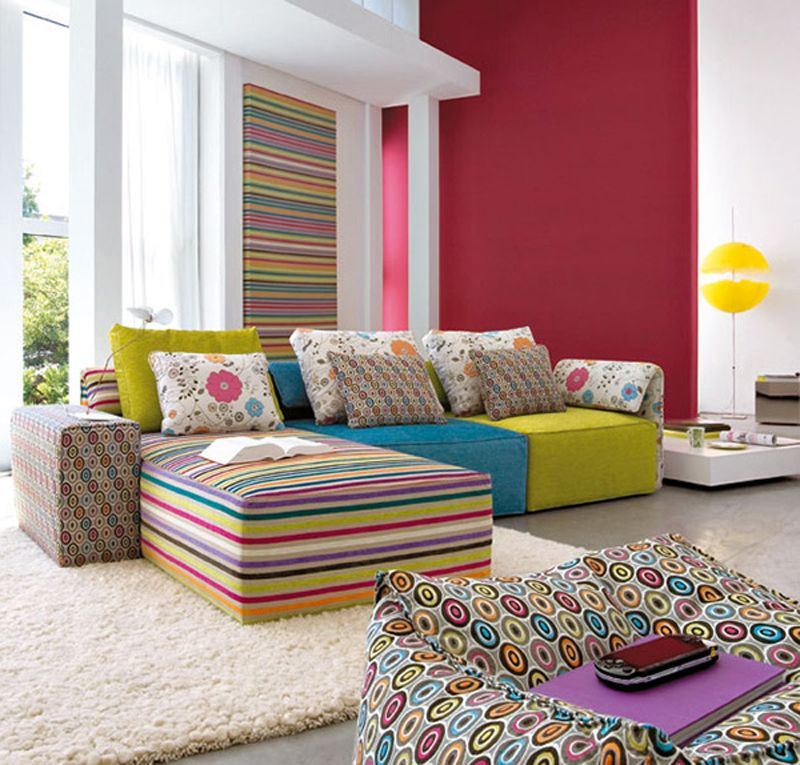 Bright Colored Couches Superb Colorful Living Room Design