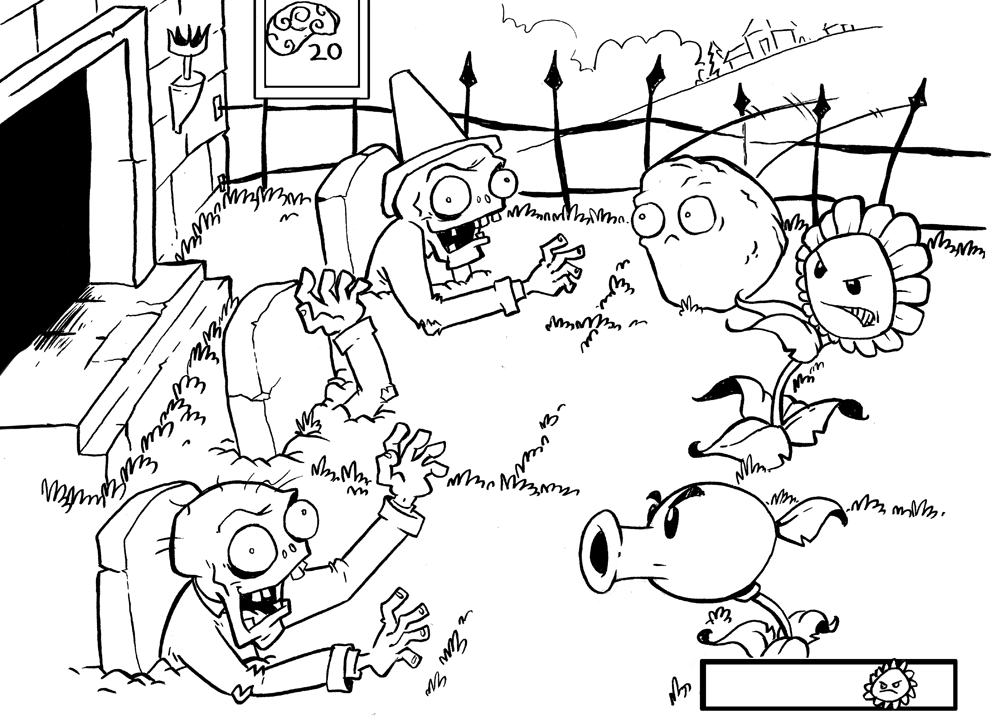 Dibujos De Plantas Vs Zombies Para Colorear E Imprimir