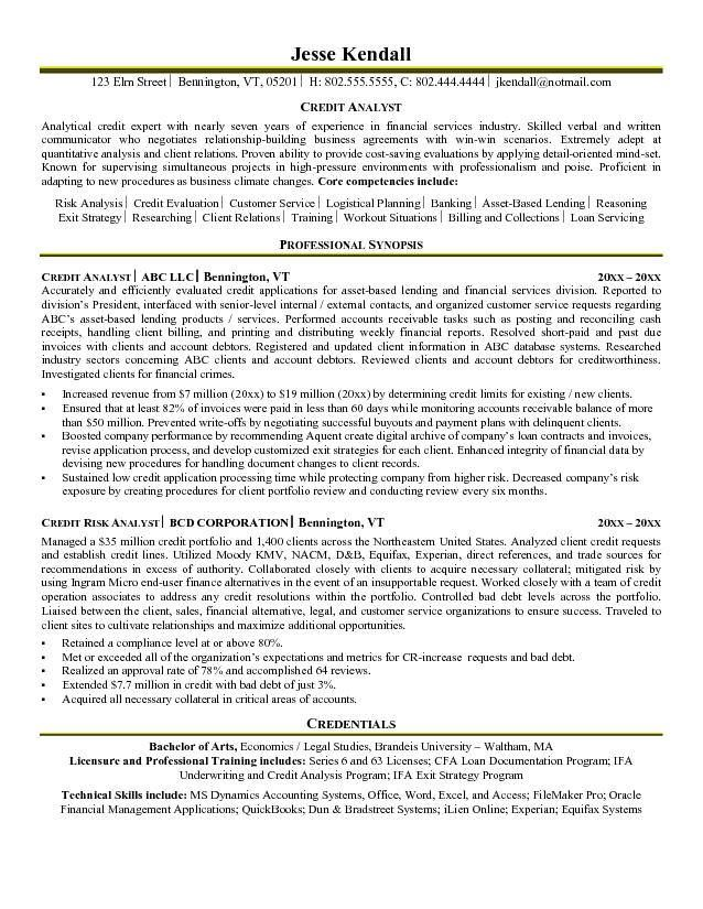 Sales Analyst Resume Examples