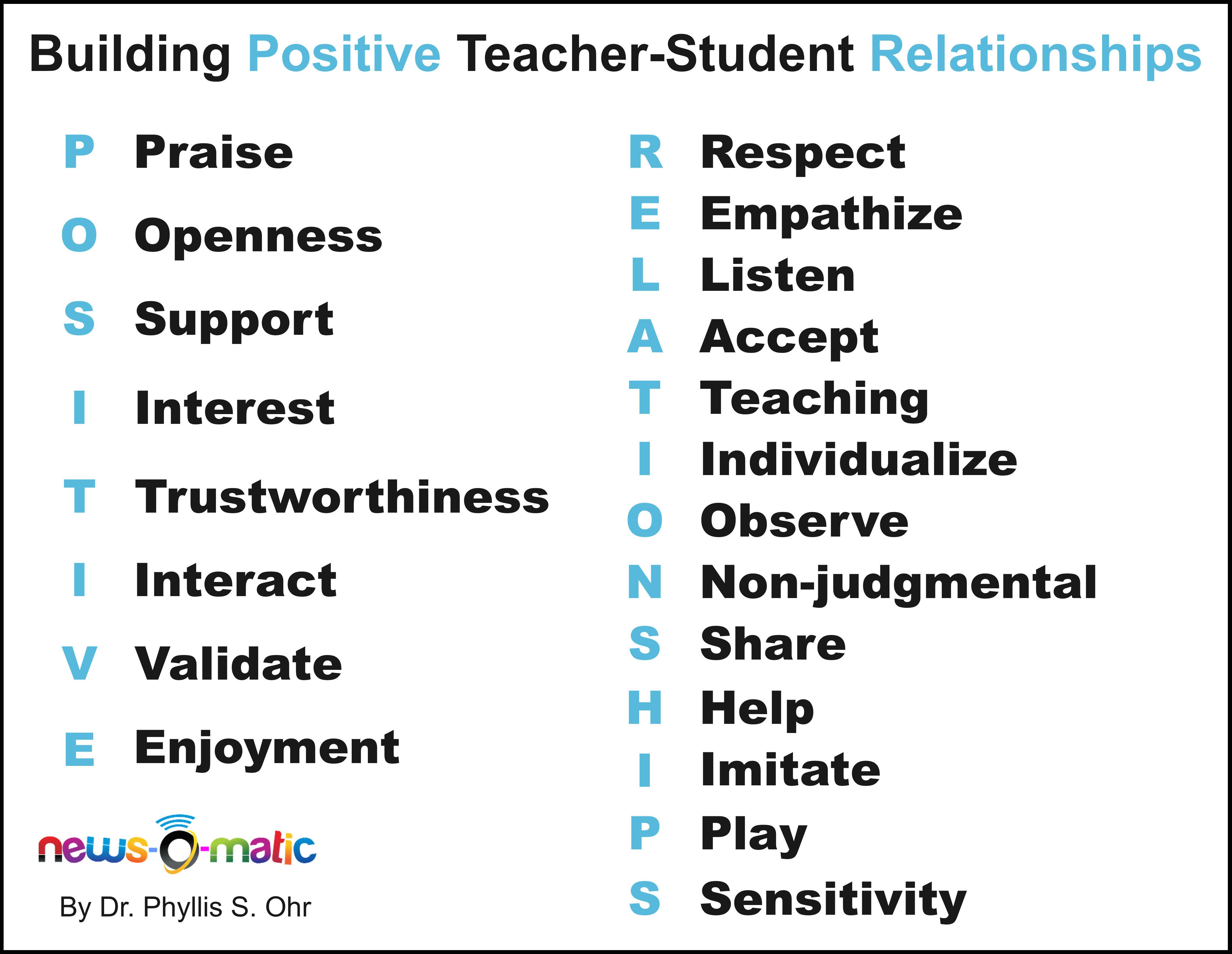 How to foster a positive relationship with students? Dr