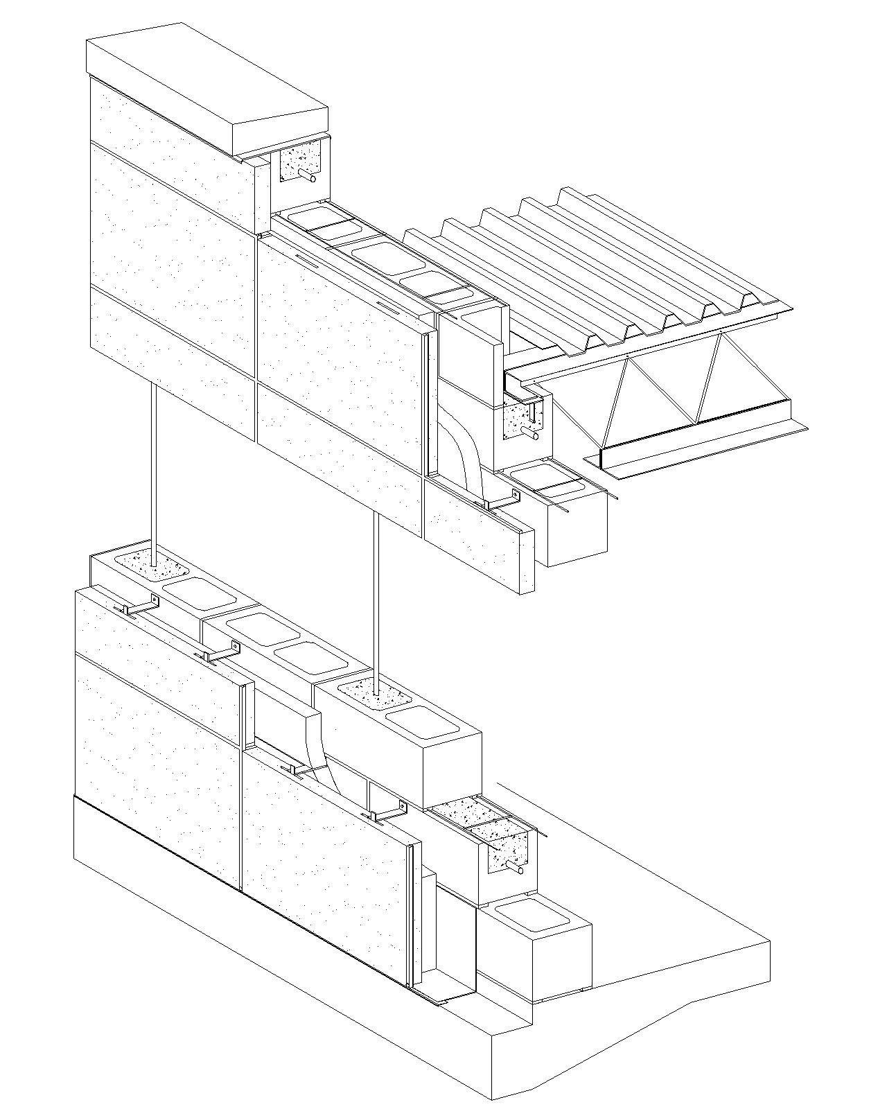 Cast In Place Concrete Wall Section Detail Concrete Block