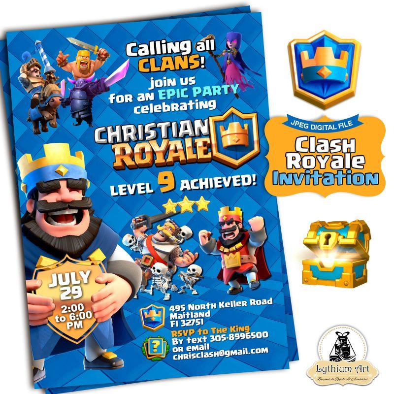 Clash royale invitation clash royale birthday clash