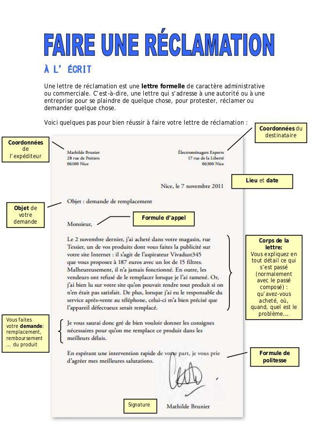 les expressions utilisees dans une lettre administrative