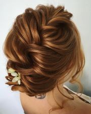 beautiful & unique updo with braid