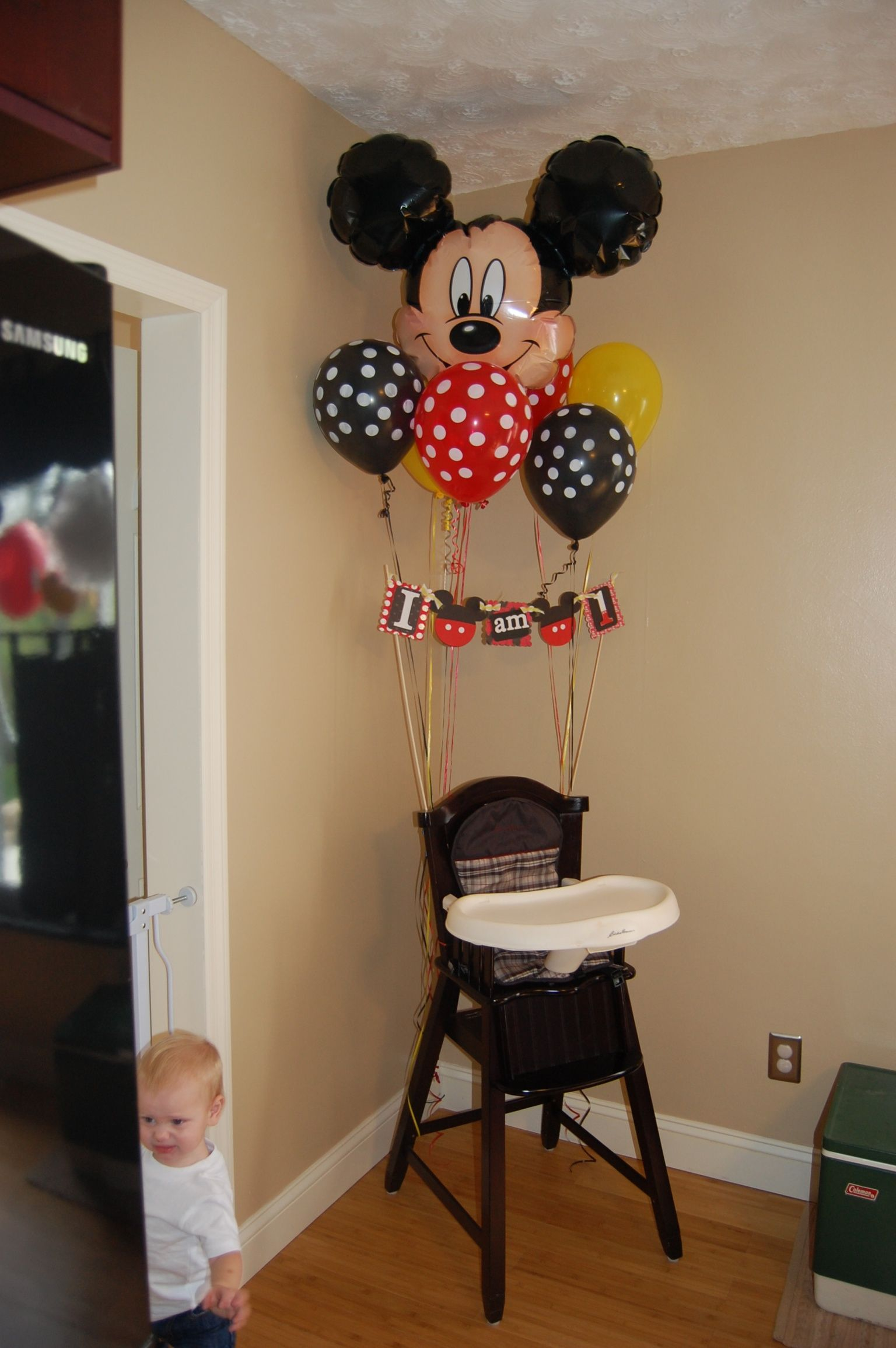 mickey mouse high chair decorations desk target australia birthday happy decor