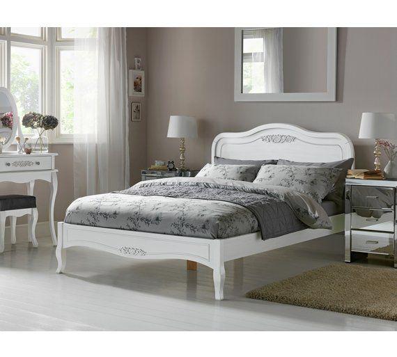 Collection Sophia Kingsize Bed Frame Ivory At Argos Co Uk Visit