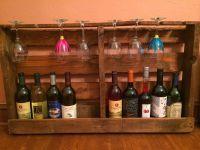 diy pallet wine bottle holder | DIY: Pallet Wine Rack and ...