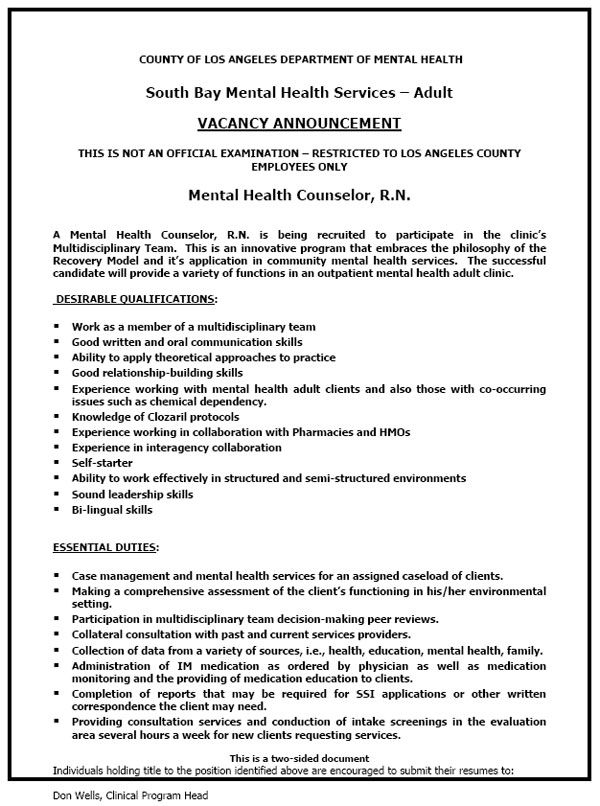 Sample Psychiatric Nurse Resume] Mental Health Nurse Cv Sample