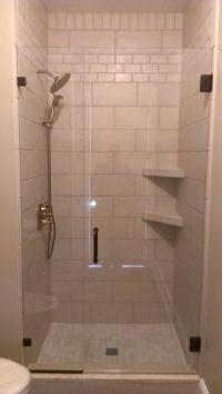 Tile Shower Tile Shower With Corner Shelves And Inlays #18 ...
