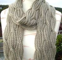 Free knitting pattern for Reversible Cabled Brioche Stitch ...