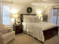 Shiplap bedroom walls with farmhouse charm... magnolia ...