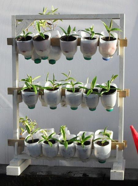 DIY Vertical Herb Garden From Plastic Milk Cartons Homestead
