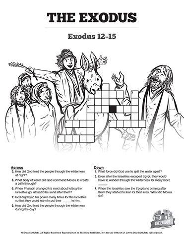 The Exodus Story Sunday School Crossword Puzzles: Both fun