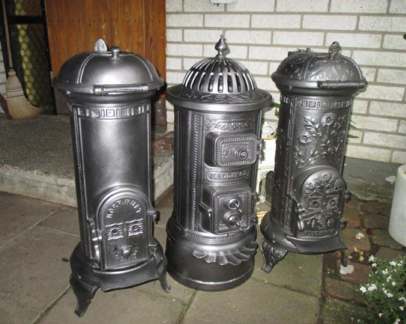3 Old Swedish Wood Stoves: Left: Norrhult 178, Middle
