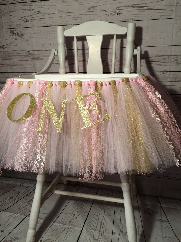 high chair tutu ikea nursing pink and gold skirt highchair