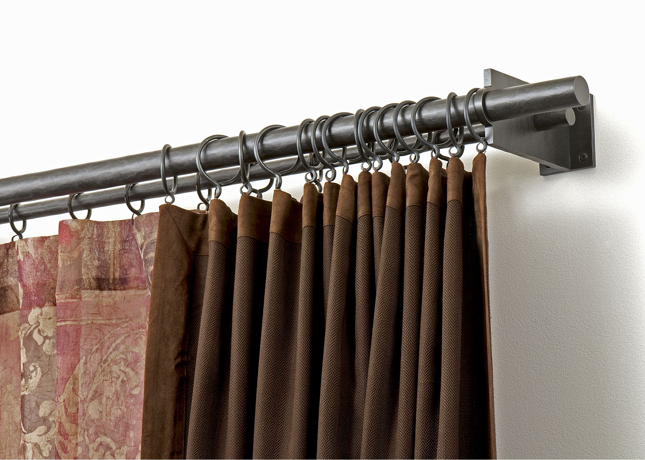 Nice Double Curtain Rod  For the Home  Pinterest  Double curtain rods Double curtains and